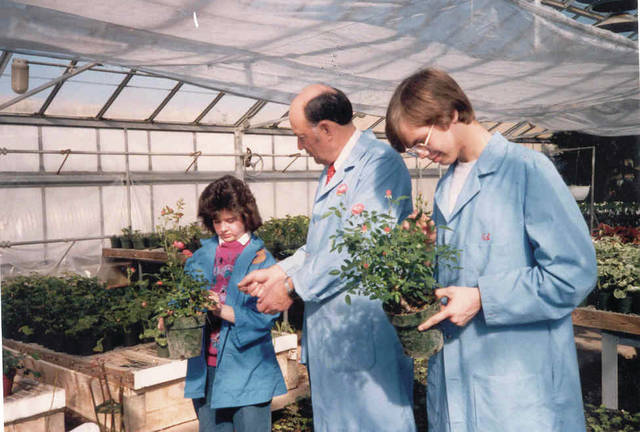 Submitted photo Greene County Career Center students learn about plants during a horticulture class in the 1980s.