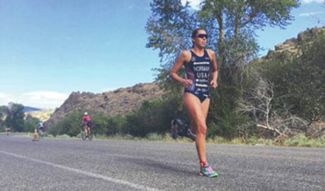 Just weeks after winning an international paratriathlon competition in Canada, Grace Norman was the first overall female finisher amongst a field of able-bodied triathletes in a race Aug. 12 in Jordanelle, Utah.