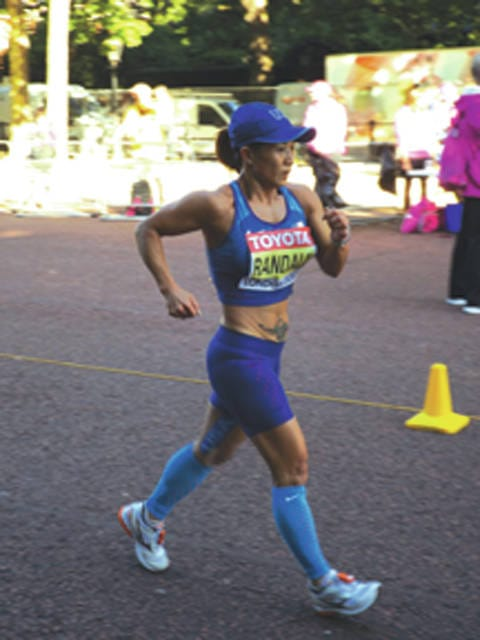 Susan Randall, of Beavercreek, competed in the first-ever IAAF-sanctioned women's 50-kilometer world championship run, Sunday Aug. 13 in London, England.
