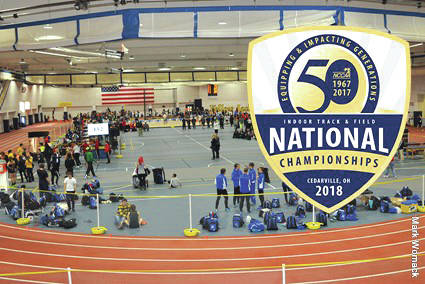 Submitted photo The National Christian College Athletic Association announces it will host 2018 Men's & Women's Indoor Track & Field National Championships ad Cedarville University.