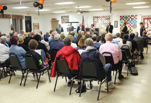 Anna Bolton | Xenia Daily Gazette Candidates for Xenia City Council each take one minute to answer an audience question at a Meet the Candidates event held Oct. 11 at Xenia Senior Center.