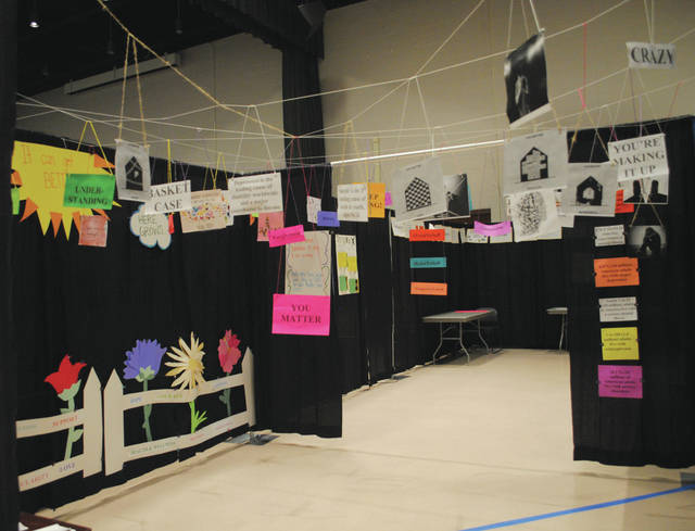 The tunnel displayed signage explaining various instances of oppression throughout the nation and across the globe.