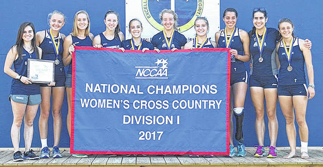 Submitted photo The Cedarville University women's cross country team won the National Christian College Athletic Association national championship, Nov. 11 in Jackson, Miss. The Jackets have won six of the past 12 championships.