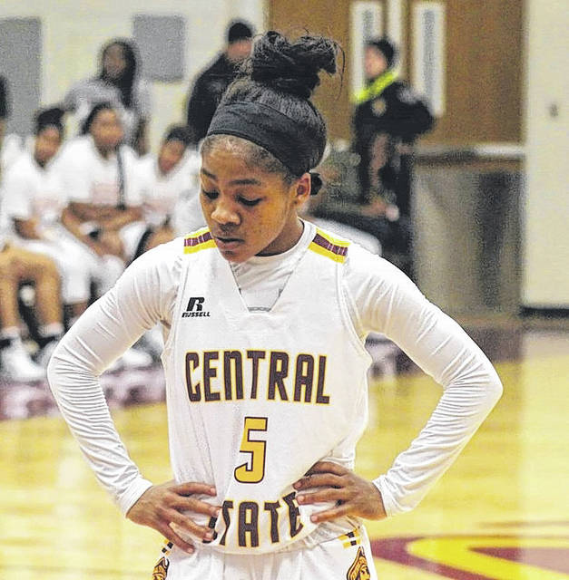 Submitted photo Sophomore Takyra Gilbert gets focused at the free-throw line.