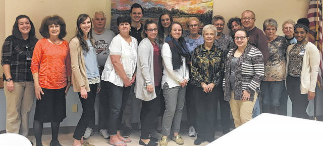 "Helping to ""decode dementia"" were nursing clinical students from Cedarville University, seen here with employees and senior citizens at the Madison County Senior Center."