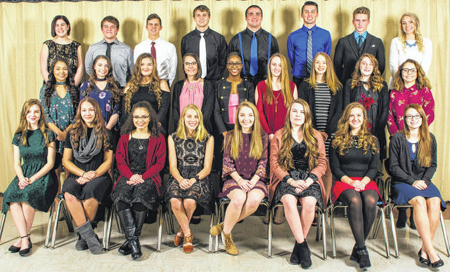 Submitted photo Xenia High School's new National Honor Society inductees.