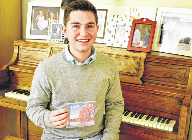 Danielle Coots | Xenia Gazette Beavercreek resident Nathan Bain debuts his first album entitled <em>Impressions</em>, that features nine original piano solos that he composed and recorded.