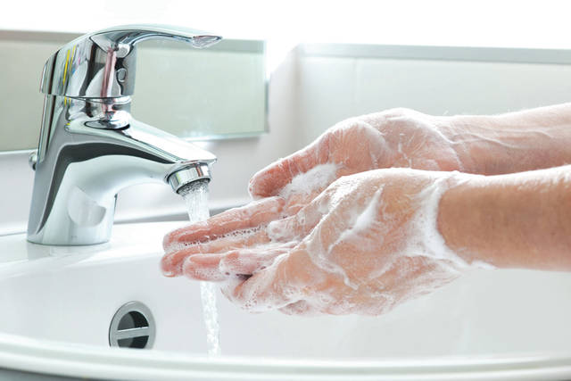 Submitted photo Wright State Physicians advise hand washing this flu season.