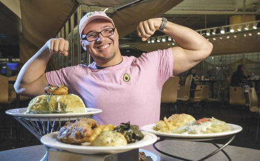 Submitted photo Ivan Mendoza, a senior majoring in management and human resources at Wright State, aspires to be among the Top 10 professional eaters.