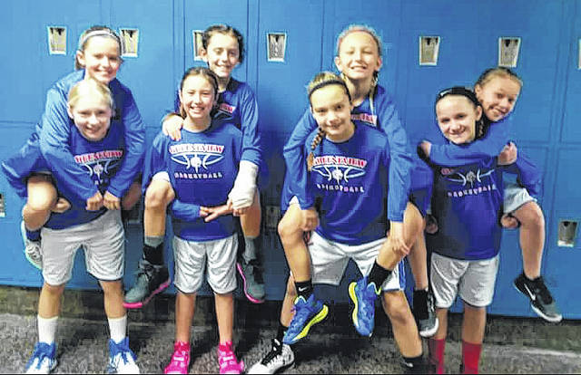 Submitted photo Greeneview's fifth grade girls basketball team.