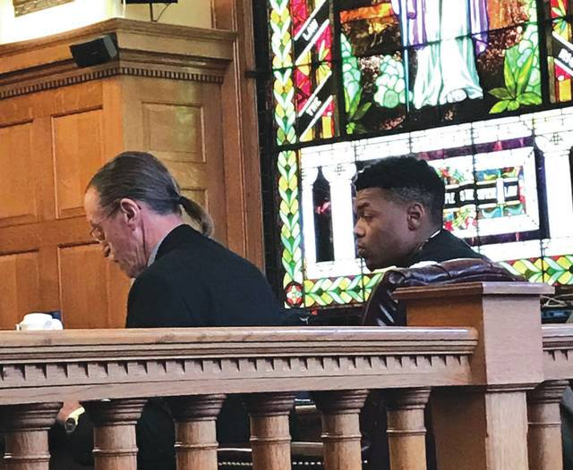 File photo Defense Attorney Carl Goraleski and defendant Myron Walker listen during the January 2017 rape trial, in which a jury found him not guilty of rape and hung on a third charge. Walker will be tried on a different count of rape beginning Jan. 23 in Greene County Common Pleas Court.