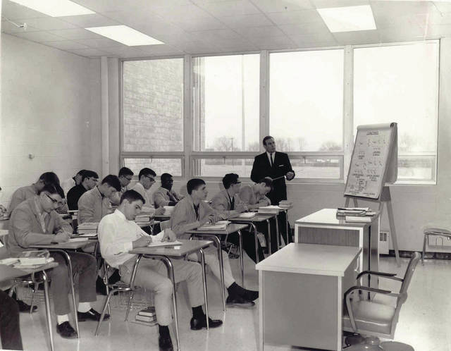 Submitted photo This photo of a class of male students dates back to the early years of what is now called the Greene County Career Center, which celebrated its 50th anniversary in September.