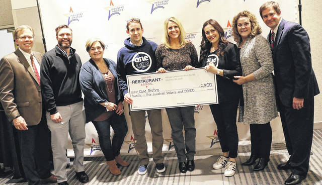 Submitted photo One Bistro received a $2,500 donation and received the inaugural Nourishing the Community Award from the Ohio Restaurant Association.
