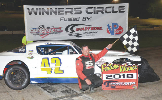 Jim Lewis Jr., of Fairborn, won the Street Stock feature race, Saturday, May 26 at Shady Bowl Speedway in DeGraff.