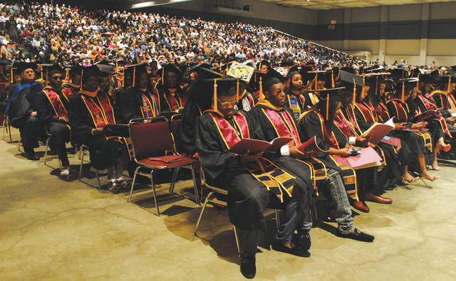 Whitney Vickers | Greene County News Two hundred students graduated from Central State University May 5. The ceremony, hosted at the Dayton Convention Center, hosted a Dayton-area journalist as the featured speaker as well as a local pastor.