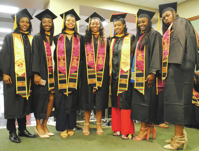 Whitney Vickers | Greene County News Central State University hosted its graduation commencement ceremony at the Dayton Convention Center May 5 in which 200 students received their earned degrees. A Dayton-area journalist and local pastor was the featured speaker during the event.