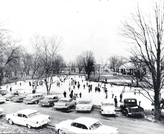 Submitted photo Local residents skate at Shawnee Park in 1959. Art Cox took this photo.