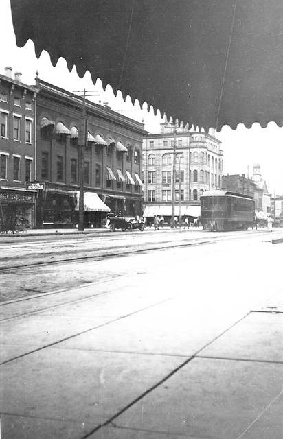 Submitted photo Here's a trolley on South Detroit Street, around 1920.