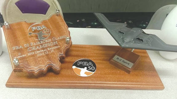 The winner of the PBA 50 Fairborn Classic bowling tournament July 13-15 at Bowl 10 Lanes, will go home with this trophy.