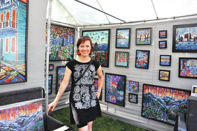 Submitted photo Chicago painter Anastasia Mak, 2017 Art on the Lawn Best of Show.