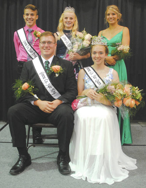 Whitney Vickers   Greene County News The 2018 Fair Royalty court includes (from top left to right) Prince Gunnar Gannon, Princess Frankie Travis, Queen Runner-up Grace Smith and (from bottom left to right) King Nicolas Shaw and Queen Janine Stover.