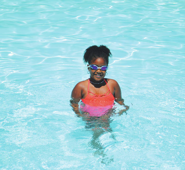 Whitney Vickers | Greene County News Gaunt Park Pool, located at 500 W. S. College Street in Yellow Springs, was bustling with activity July 12 as many locals cooled off and made a splash.