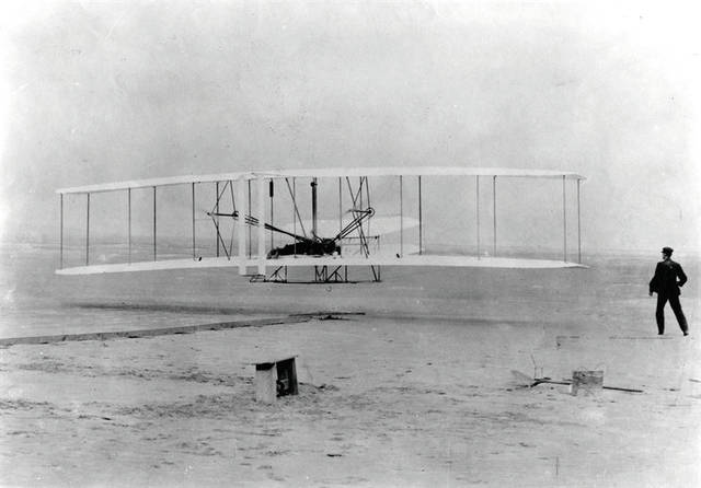 Submitted photo Orville and Wilbur Wright's first flight, Dec. 17, 1903, at Kittyhawk, N.C.