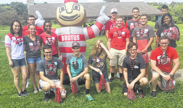 Submitted photo Greene County students bound for Ohio State University were treated to an annual send off thanks to the OSU Alumni Association.