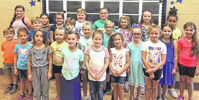 Submitted photo Arrowood Elementary School announced its September all stars, who displayed their Buccaneer Best Behaviors of being respectful, being responsible, being a problem solver, and doing their best. All stars are: kindergarten, Ally Ayres, Charles Brest, Ava Fletcher, and Coralei Hobbs; first grade, Adriana Brittingham, Layla VanHoosier, Kennedi Boude, and Alison Tuck; second grade, Jonas Baldwin, Madison Dingeman, Khloe Trimble, and Elijah Jack; third grade, Kameron Williams, Addison Nieri, Brayden Tremblay, and Elliana Raynor; fourth grade, Jocelyn Lucas, Britney Myers, Duncan Jacob, and Caleigh McFarland; and fifth grade, Loralei Ladd, Grace Wingate, and Makenna Womacks.