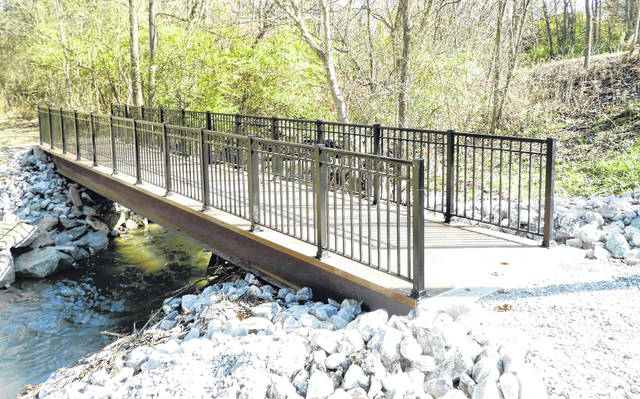 Submitted photo Four new bridges were installed within Sara Lee Arnovitz Nature Preserve and were funded by proceeds from the 2015 park levy.