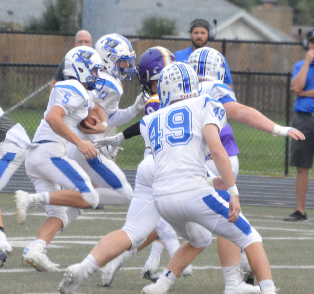 Christian Severt (5) ran for 111 yards versus Butler during the Bucs' 13-7 overtime loss on Friday.