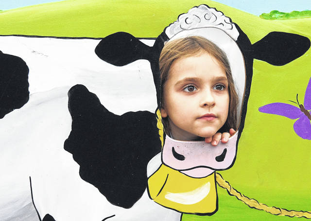 Barb Slone | Greene County News The Jamestown Lions Club held its annual Bean Festival Sept. 21-22. In addition to beans, there were games, vendors, rides, a parade and of course, the chance to become a cow.