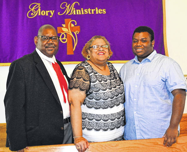 Submitted photo Pastor Rev. Dr. Gloria Dillon with her family husband Vermon and son Micah.