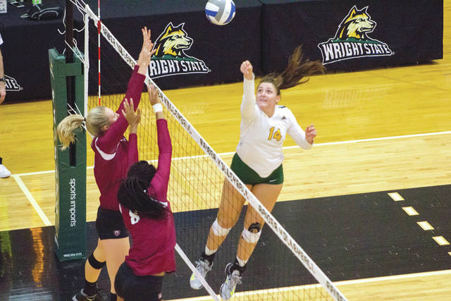 MVP of the West Virginia Invitational volleyball tournament, Wright State University sophomore Teddie Sauer has spurred the Raiders to a solid start.