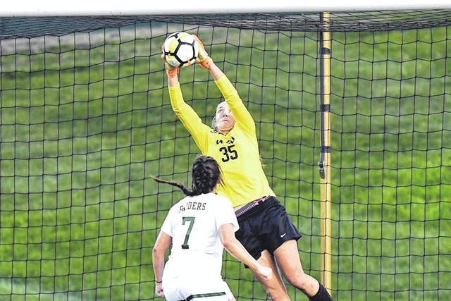 Submitted photo The Wright State University Raiders women's soccer team earned a 1-0 victory in a hard fought road match against Oakland, Sept. 14 in Rochester, Mich.