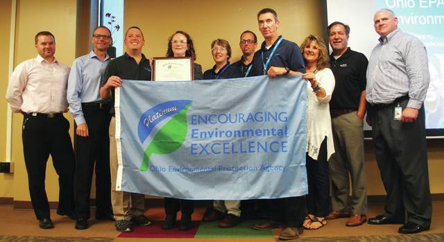 Whitney Vickers | Greene County News The Ohio EPA Awarded YSI of Yellow Springs with its Platinum Award for the company's environmental stewardship. The Platinum Award is the Ohio EPA's top honor, with YSI being only the fourth company to earn the award.
