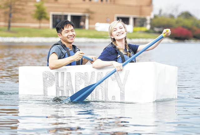 Submitted photo The annual cardboard canoe race will make a splash at Cedarville University Friday, Oct. 5.