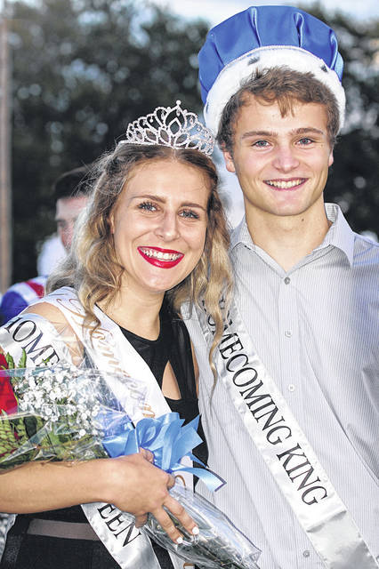 Barb Slone | Greene County News Greeneview High School crowned Hannah Ferrell and Kevin Combs as its homecoming queen and king during ceremonies Oct. 5.