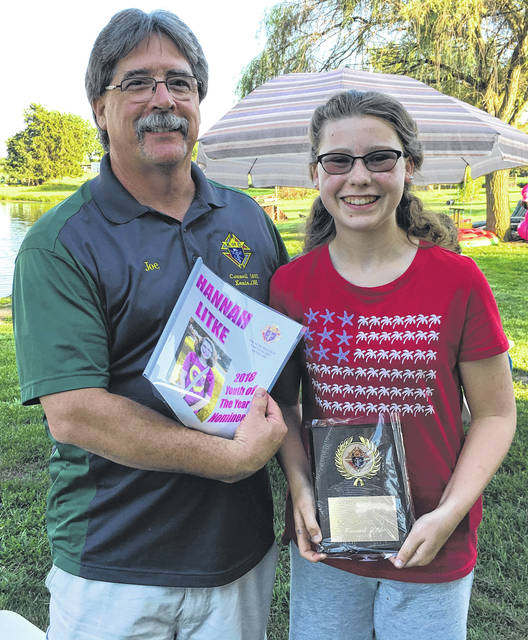 Hannah Litke received the Knights of Columbus Youth of the Year Award for her contributions and leadership as a youth in the community and church