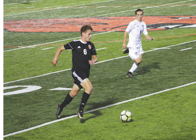 Beavercreek senior Hunter Jackson (6) starts a breakaway down the field, in a 9-0 Senior Night win over Fairborn, Oct. 4, at Beavercreek High School.