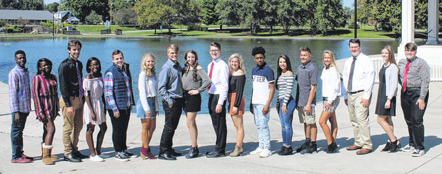 Submitted photo The 2018 Xenia High School homecoming court: Malik Thomas, Cayce Jones, Nate Saner, Calli Jones, Wyatt Spahr, Alexis McClelland, Nick Willis, Abbi Sparkman, Cameron Sparaco, Caroline Prindle, Ronald Wakefield, Shyanne Hall, Cole English, Grace Bond, Dylan Alex, Jada McAvene, and Sophomore Ty Walker. Not pictured Morgan Claude.