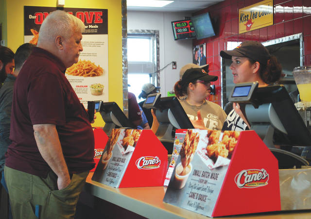 Whitney Vickers | Greene County News Raising Canes chicken opened the second Dayton-area resturant Oct. 30 at 4384 Indian Ripple Road. Hours of operation at Beavercreek's new Raising Cane's are 10:30 a.m. to 11 p.m. Sunday through Thursday and 10:30 a.m. to midnight Friday and Saturday.