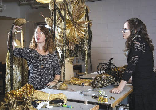 Elizabeth Bourgeois, assistant professor of costume design, worked with a team of Wright State students and alums to create the winning costume.