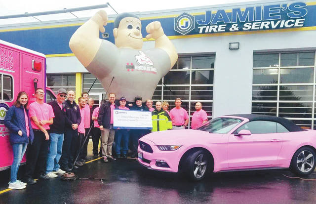 Submitted photos Jamie's Tire and Auto Service recently hosted a fundraiser to benefit the Circle of Victory. They raised $1,229.
