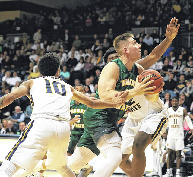 Photo courtesy of WSU The Raiders lost to Murray State 73-54 on the road.