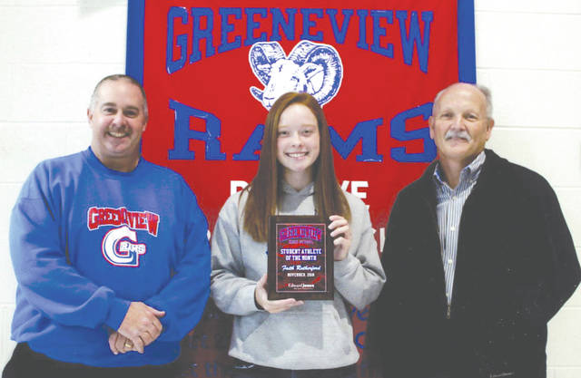 "Faith Rutherford was chosen as the Edward Jones Investments Athlete of the Month for November for Greeneview High School. This award is being sponsored by the office of Mike Reed at Edward Jones Investments of Xenia, serving Xenia, Jamestown, Cedarville and surrounding areas. Rutherford is a junior who played on the girls varsity soccer team. Said her coach, Shawn Brown: ""Faith was a great leader on our team and had a great work ethic. Her game preparation is second to none!"" Rutherford's October stats were 10 goals and three assists. She was named to the first-team All Ohio Heritage Conference, first team Miami Valley and second team All-Ohio. Her grade-point average is currently 3.32."