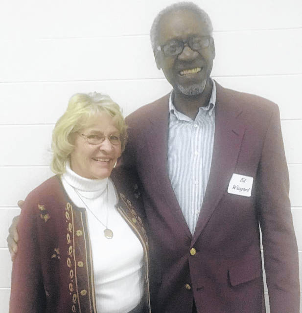 Virginia Pinkerton presented the featured member recognition, retired educator Dr. Ed Wingard.