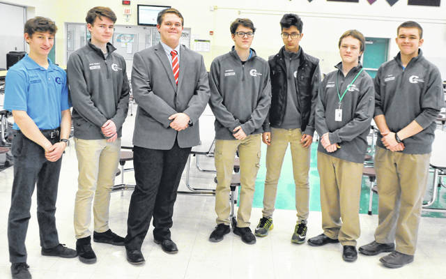 Photos courtesy GCCC Greene County Career Center information technology students Kolton Hahn, Jack Ramey, Bryce Simpson, Jonathon Bailey, Alla'Eldeen Idrees, Jacoby Hyer and Taylor Humble recently participated in the Business Professionals of America (BPA) regional competition.