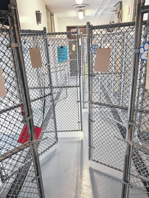 Photo courtesy GCAC The last dogs at Greene County Animal Care & Control were adopted over the weekend, leaving the kennels temporarily empty.