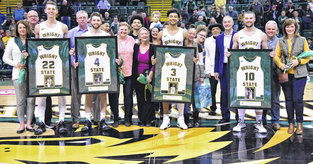 Photo courtesy of WSU The Wright State University's men's basketball team hosted senior day Feb. 23 as it defeated Youngstown State.